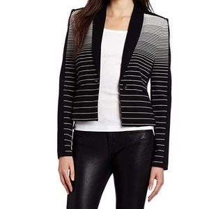 BCBGMaxAzria Bowie Striped Tuxedo Blazer, Size XS